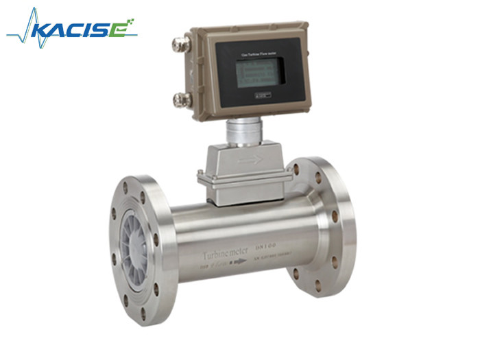 Digital Natural Gas Turbine Flow Meter High Precision Dual Power Supply